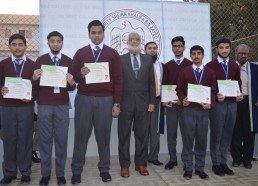 College Students Being Awarded Scholarships by the DHA