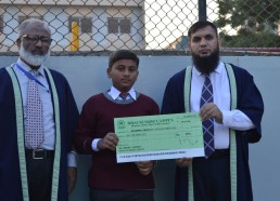 Muzamil Abbas of XI PM is Being Awarded Scholarship